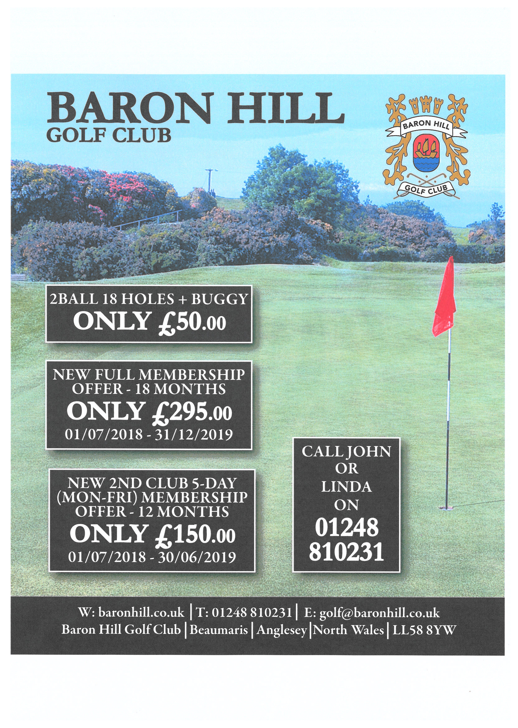 LATEST OFFERS FOR NEW MEMBERS & SUMMER GREEN FEES