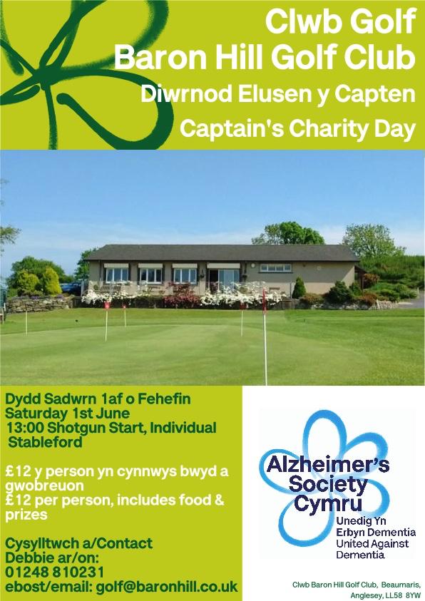 Captain's Charity Day - Diwrnod Elusen Y Capten Dydd Sadwrn 1st June 2019